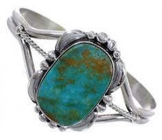 Sterling Silver Navajo Turquoise Native American Cuff Bracelet FX27020 http://www.silvertribe.com