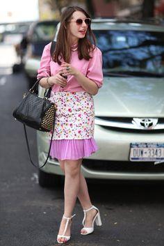 Pink hues took the focus in this feminine mix. Source: Greg Kessler
