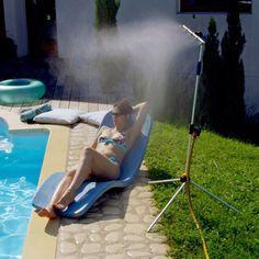 Brumisateur / douche de jardin aluminium 2 en 1 - Bleu
