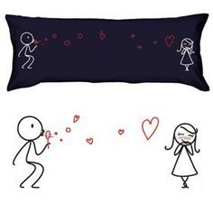 """Boldloft """"From My Heart to Yours"""" Valentines Body Pillowcase (Dark Blue)-Romantic Valentines Gifts for Couples,Cute Valentines Day Gift Ideas,Good Couple Gifts for Valentines,Romantic Anniversary Gifts"""
