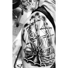 #kracken #tattoos #octopus #ship