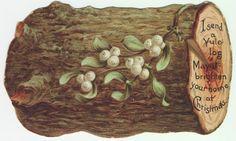 """Victorian greetings - """"I send you a Yule log..."""""""