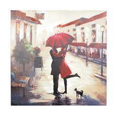 Red Umbrella Couple Canvas Art Print at Kirkland's