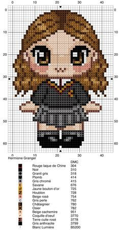 Trendy Ideas for crochet blanket harry potter perler beads - Sewing Projects & Ideas 2020 Pixel Art Harry Potter, Harry Potter Perler Beads, Harry Potter Cross Stitch Pattern, Harry Potter Crochet, Harry Potter Hermione, Hermione Granger, Cross Stitch Charts, Cross Stitch Designs, Cross Stitch Patterns