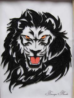 Lion - by: Bistra Toneva -1st Place Winner Heart Stealer 24 - Quilling Designs