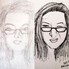 For I dug out a self-portrait that I did 2 years ago to compare it to one that I did for the selfie sketch workshop from a few months ago. Sketches Of People, Throwback Thursday, Sketching, Workshop, Selfie, Cool Stuff, Portrait, Artist, Cool Things