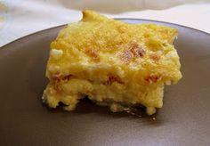 Lasaña de Patata, Jamón y Queso.