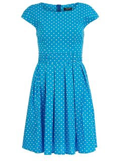 Turquoise spotted prom dress - Brands at DP - Dresses - Clothing - Dorothy Perkins United States