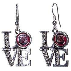 "South Carolina Gamecocks Silver Tone 1"" Love Pendant Earr... https://www.amazon.com/dp/B01HP3C0YI/ref=cm_sw_r_pi_dp_-kJLxbCRJDGYH"