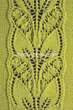 Pattern con foglie traforate
