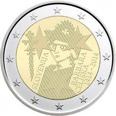 moneda conmemorativa 2 euros Eslovenia 2014.