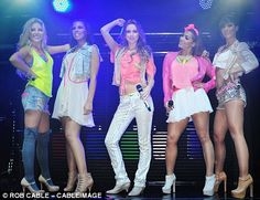 the saturdays' headlines tour outfits.