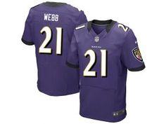 Nike NFL Elite Ravens #21 Lardarius Webb Purple Team Color Men's Stitched Jersey