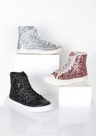 Sequin Hi Top Sneaker 14.99