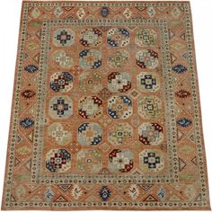 New Afghani Turkman Esari Rug SH-36066-Design# 2354, Size- 8' x 10' #livingroom #diy #handmade #best #cleaning #modern #design #runner #print #carpet #rugs #flooring #office #home #decoration #bedroom