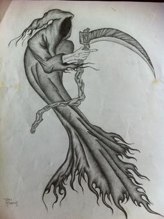 Grim Reaper Drawings In Pencil is the oldest application form of fine arts and also also plays a major role in other forms regarding visual art like n. Reaper Drawing, Smoke Tattoo, Creative Tattoos, Pencil Art Drawings, Grim Reaper, Overwatch, Halloween, Sleeve Tattoos, Old Things