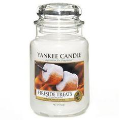 Yankee Candle Bougie en pot Parfum cheminée Treat, blanc, Taille L