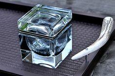 Handblown square Murano glass box