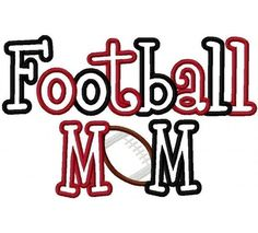 Football Mom Embroidery Machine Applique Design 2277 by kayelee