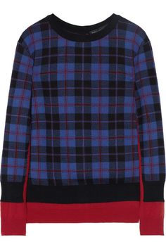 Marc by Marc Jacobs Aimee trompe l'oeil plaid merino wool sweater - ShopStyle Cool Sweaters, Sweaters For Women, Fall Plaid, Tartan Plaid, Plaid Fashion, 90s Fashion, Fall Fashion, Merino Wool Sweater, Sweater Weather