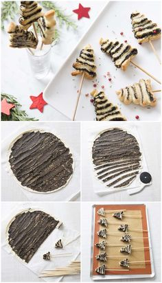 DIY: Mini Tannen mit Tapenade laminiert in Tutorial mit Fotos von . Christmas Deserts, Christmas Breakfast, Christmas Recipes, Tapas, Best Holiday Appetizers, Love Eat, Christmas Cooking, Food Humor, Quiches