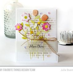 Mon Cherie Bouquet by Julia Stainton featuring MFT Stamps