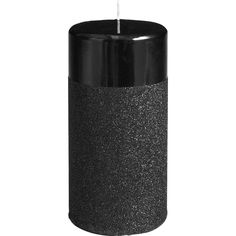 Pier 1 Imports Black Glitter Pillar - 3x6 (20 PEN) ❤ liked on Polyvore featuring home, home decor, candles & candleholders, fillers, candles, black, accessories, glitter pillar candles, pier 1 imports and cat candle