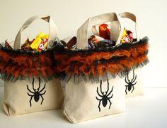 Halloween Treat Bag  Halloween Tote  Halloween Bag  by GabryRoad, $8.00