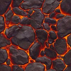 Lava under rock token panel Texture Mapping, 3d Texture, Tiles Texture, Texture Design, Game Textures, Textures Patterns, Illusion 3d, Rpg Map, Hand Painted Textures