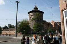 Looking at the walled city of Nuremberg, Germany.