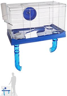 Cages and Enclosure 63108: Ware Manufacturing Small Animal High Rise Pet Cage 10 Gallon (C2 BUY IT NOW ONLY: $44.0