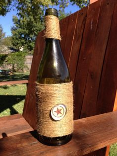 Decorated wine bottle by Arusticgirl on Etsy, $6.00