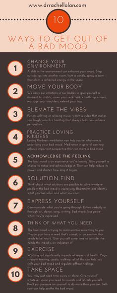 Dr. Rachel's Top 10 Ways to Get Out of a Bad Mood