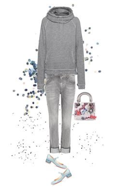 """""""Glitter Glue"""" by musicfriend1 ❤ liked on Polyvore featuring Topshop, 7 For All Mankind, Christian Louboutin, True Religion and Christian Dior"""