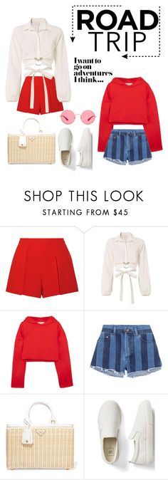"""Untitled #62"" by kenza-sallemi ❤ liked on Polyvore featuring Alice + Olivia, Cinq à Sept, Golden Goose, Yves Saint Laurent, Prada, Gap and Ray-Ban"