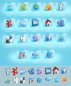 Social logos - Snow