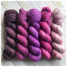Fading Point Kit: Purple, hand dyed yarn
