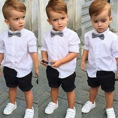 Our baby boy dress & newborn attire are definitely lovely. Trendy Boy Outfits, Trendy Baby Boy Clothes, Outfits Niños, Boys Summer Outfits, Little Boy Outfits, Kids Outfits, Baby Outfits, Fashion Outfits, Toddler Wedding Outfit Boy