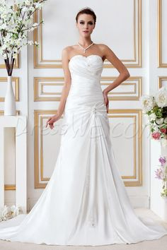Pretty Empire Sweetheart Chapel Appliques Gerogia's Bridal Gown 8872186 - Beach Wedding Dresses - Dresswe.Com
