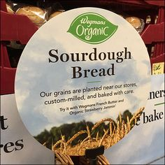 Three-Sided and four-sided baskets combine to create this Sour-Dough-Bread Wicker Shelf Display. The three-sided shapes work well sitting flat on the shelf Bread Shop, Retail Fixtures, Wicker Shelf, Shelf Display, Sourdough Bread, Visual Merchandising, Baked Goods, Bakery, Organic