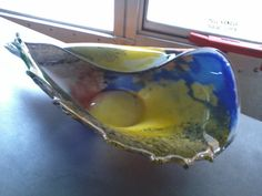 Multiple color glass vase/bowl by UniquelyAttainable on Etsy, $60.00