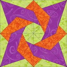 Birthday Star Block #33 whimsical -- there's your secondary color scheme! triadic with the orange and purple pulled closer toward the reds. Result: supercolorful, lots of pop!
