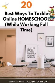 """Homeschooling is especially challenging for families that have parents who work full time; however, it is a very rewarding experience.  The biggest question is """"What are some of the best ways that parents can tackle online homeschool, while working full time?"""" Click to find out how #homeschool #homeschooling #homeschoolingkids #onlinehomeschool #onlinehomeschooling #mum #kid #parenting"""