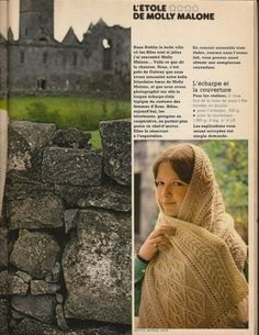Ravelry: L'étole de Molly Malone pattern by Galway Bay Products Aran, Molly Malone, French Magazine, Ravelry, Vintage Fashion, Vintage Style, Knit Crochet, Catalog, Photos