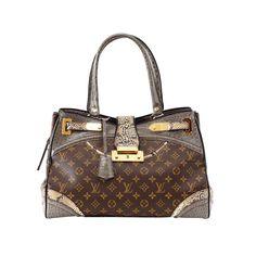 792568881be0 LOUIS VUITTON Bag EXOTIQUE MAJESTUEUX tote monogram ostrich lizard leather