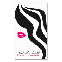 Retro make up artist business card design artist business cards reheart Image collections