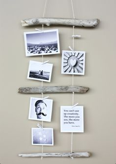 Creative way to hang pictures!
