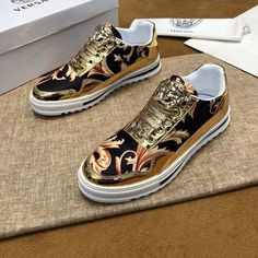 Versace Versace New Size 18059955283 Versace Sneakers, Versace Shoes, Shoes Sneakers, Versace Versace, Most Expensive Shoes, Summer Sneakers, Stylish Mens Outfits, Mode Streetwear, Painted Shoes