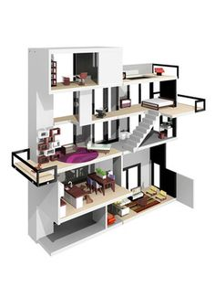modern doll house-my future daughter will have something like this...