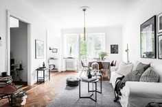 A soothing grey Swedish apartment with a lovely balcony | my scandinavian home | Bloglovin'